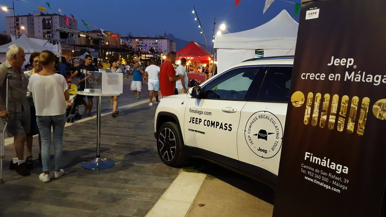 Jeep Compass en el festival de gastronomía Welcome San Pedro Street Food Market