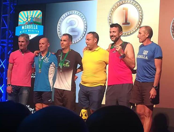Nuestro compañero Juan Manuel Carvajal brilla en la Media Maratón de Marbella